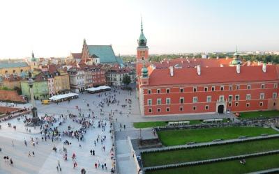Place du Chateau à Varsovie