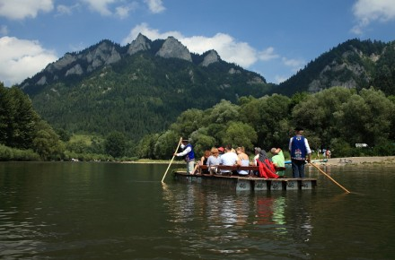 Rafting on Dunajec River