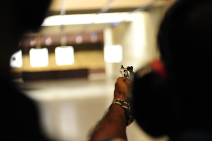 Shooting range, Warsaw, Poland