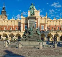 Statue de Mickiewicz, Cracovie